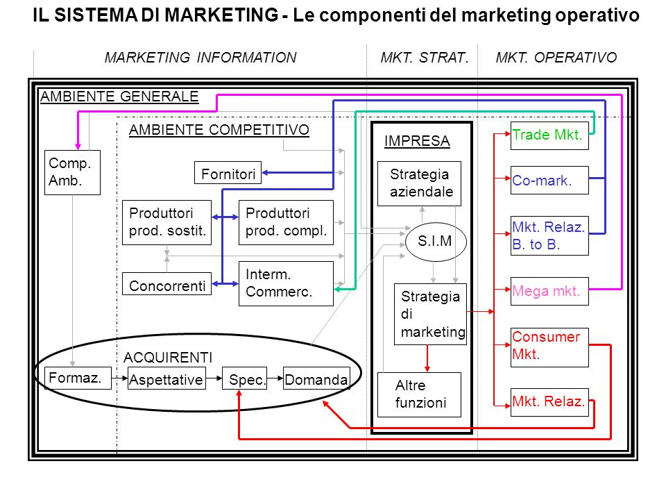 IL SISTEMA DI MARKETING - Le componenti del marketing operativo