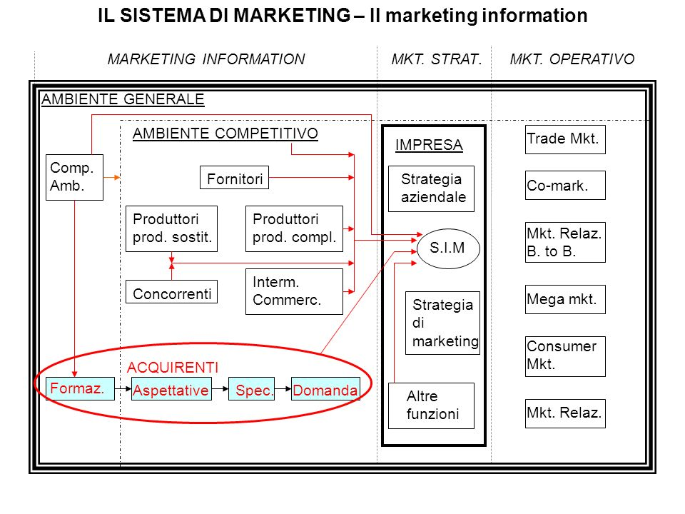 IL SISTEMA DI MARKETING – Il marketing information