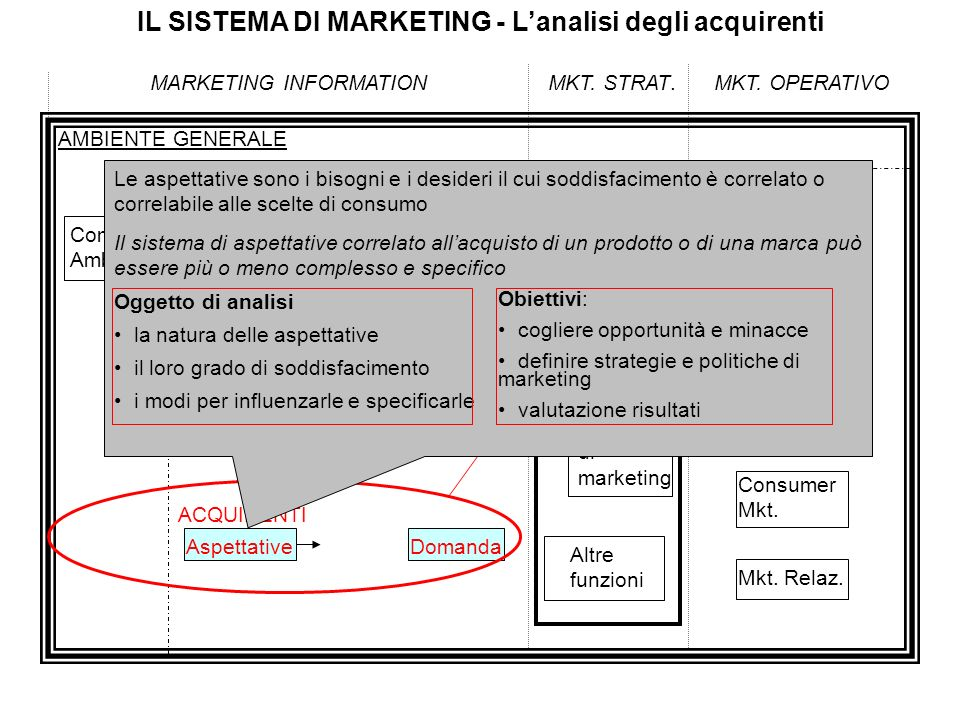 IL SISTEMA DI MARKETING - L'analisi degli acquirenti