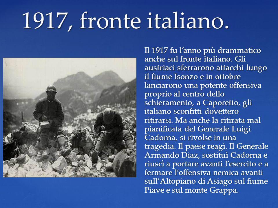1917, fronte italiano.