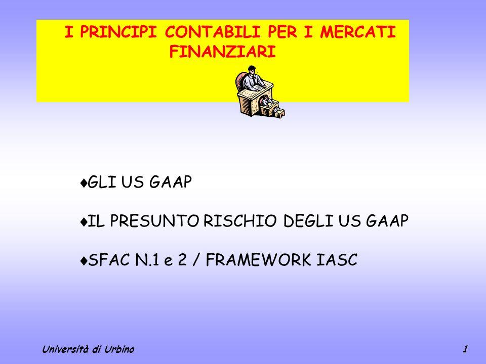 I PRINCIPI CONTABILI PER I MERCATI FINANZIARI