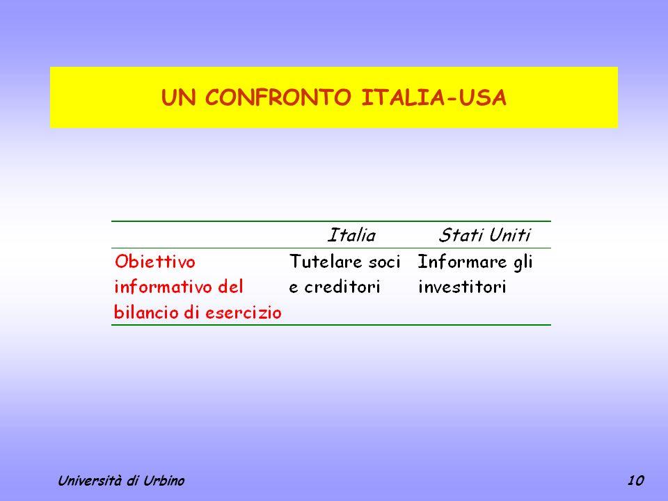 UN CONFRONTO ITALIA-USA