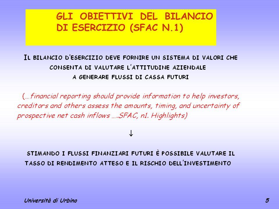 GLI OBIETTIVI DEL BILANCIO DI ESERCIZIO (SFAC N.1)