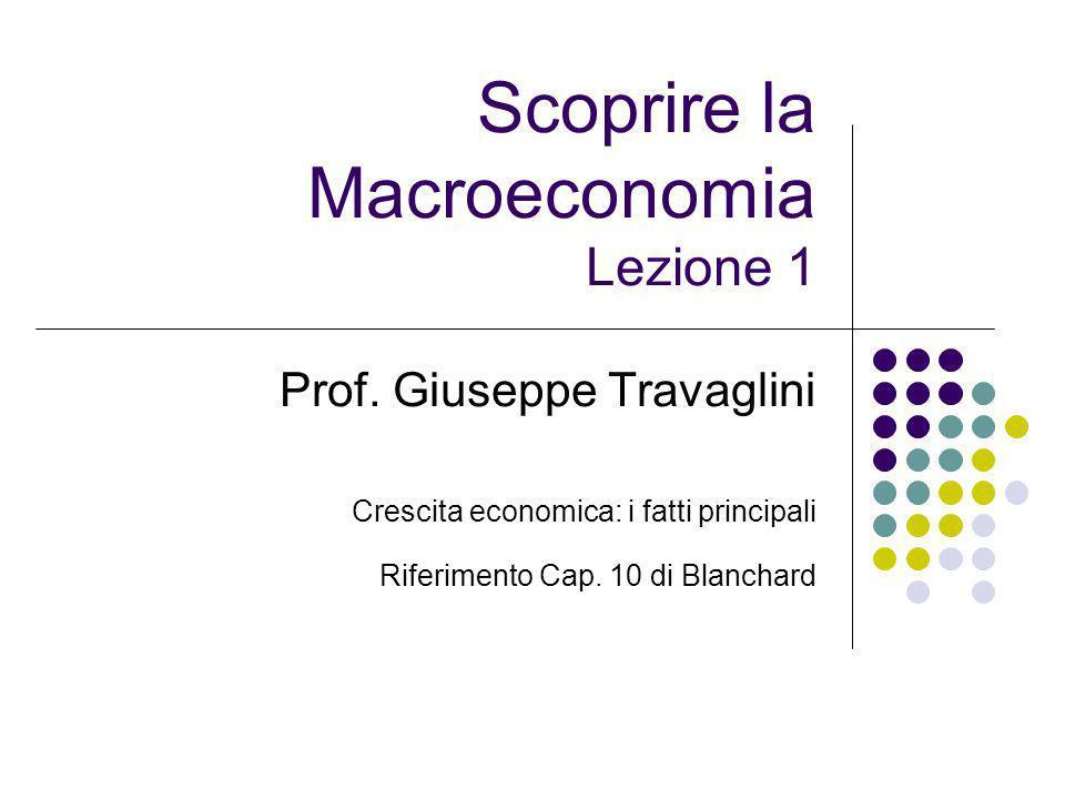 Scoprire la Macroeconomia Lezione 1