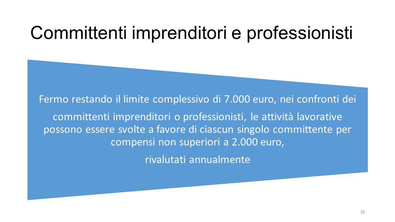 Committenti imprenditori e professionisti