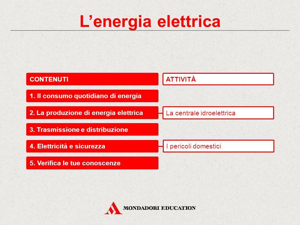 L'energia elettrica CONTENUTI ATTIVITÀ