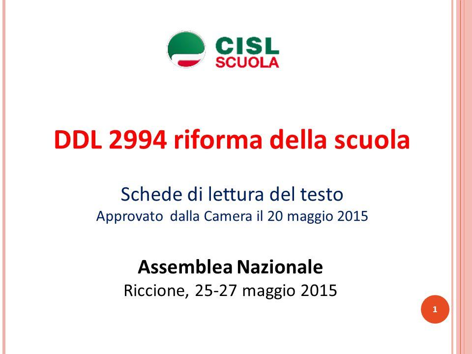 DDL 2994 riforma della scuola