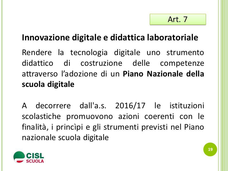 Innovazione digitale e didattica laboratoriale