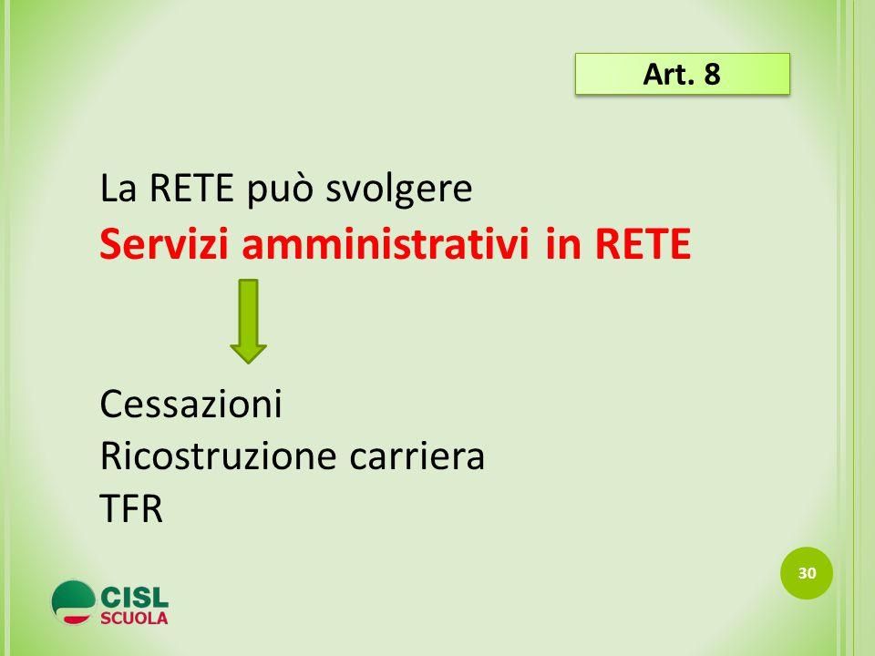 Servizi amministrativi in RETE