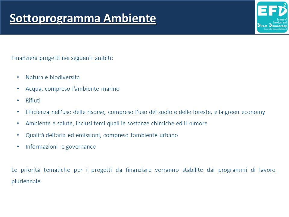 Sottoprogramma Ambiente