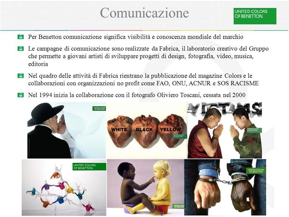Comunicazione Per Benetton comunicazione significa visibilità e conoscenza mondiale del marchio.