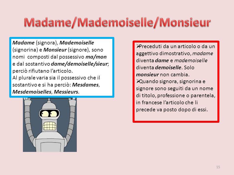Madame/Mademoiselle/Monsieur