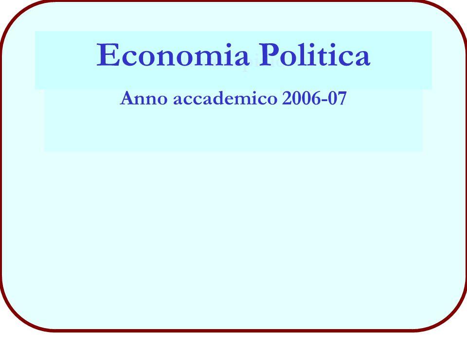 Economia Politica Anno accademico 2006-07 frontespizio