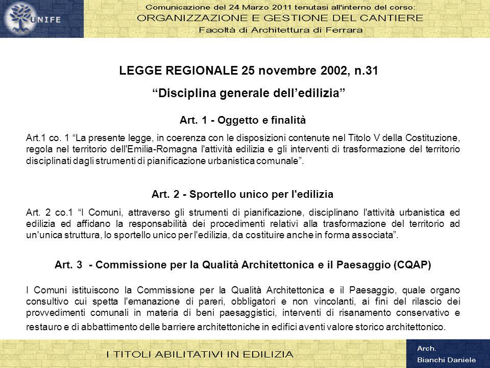 LEGGE REGIONALE 25 novembre 2002, n.31