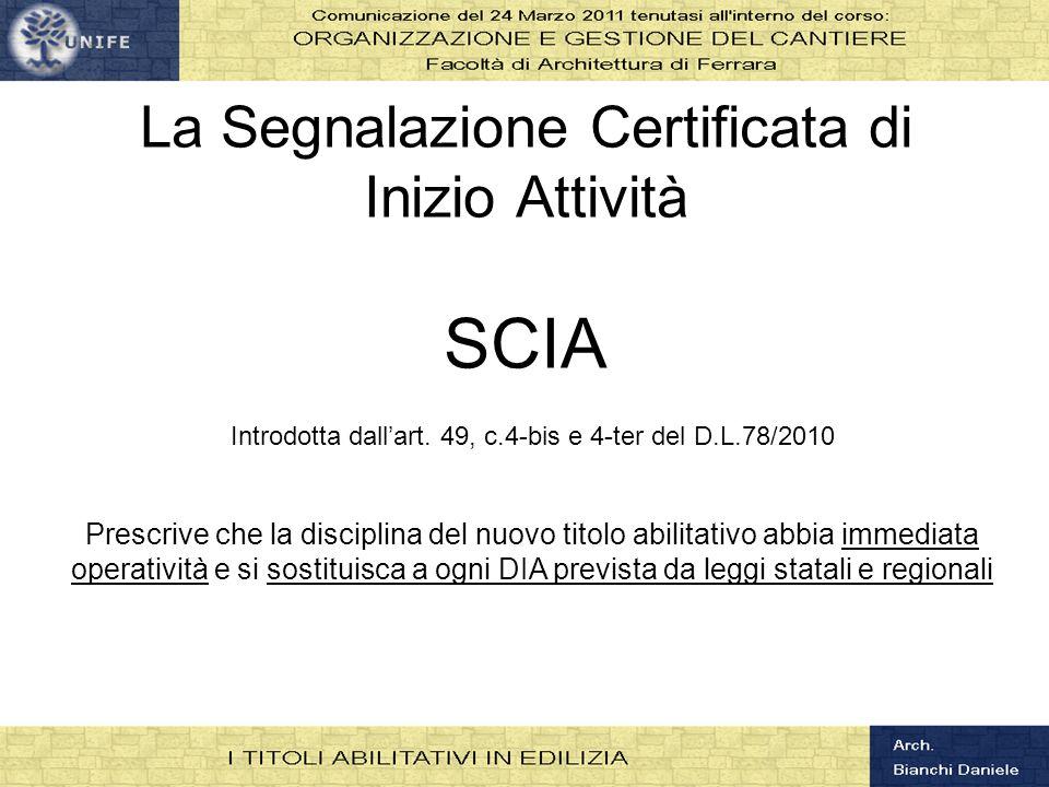 La Segnalazione Certificata di Inizio Attività SCIA