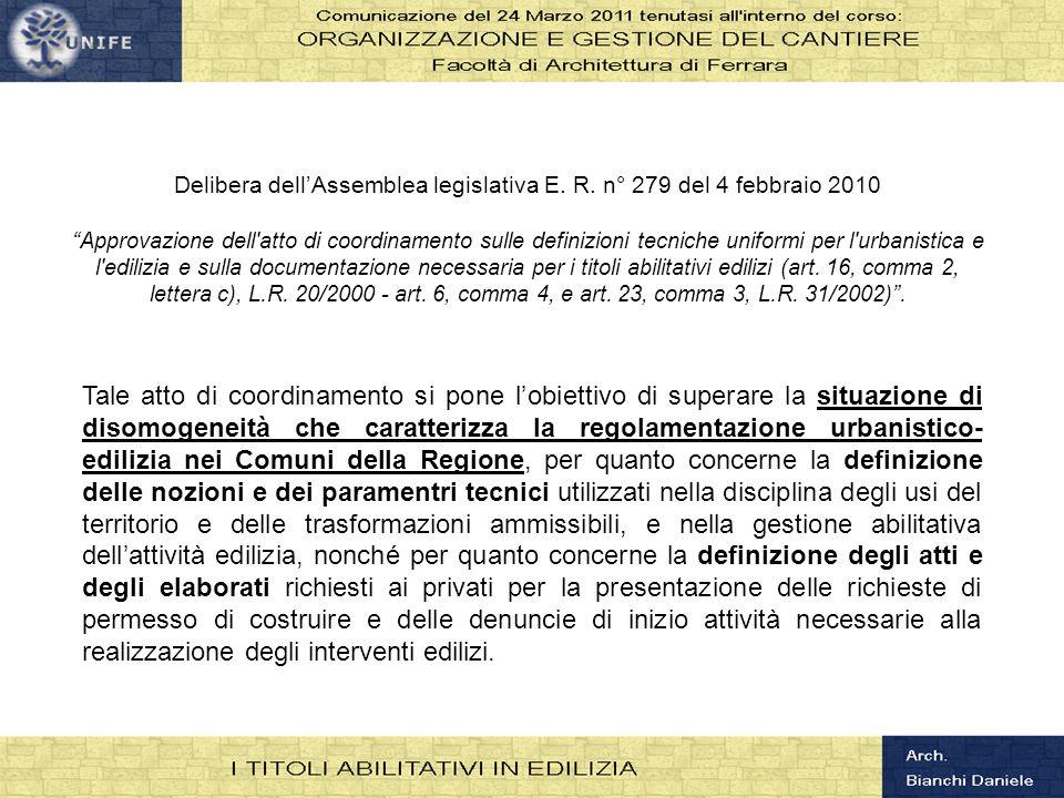 Delibera dell'Assemblea legislativa E. R. n° 279 del 4 febbraio 2010