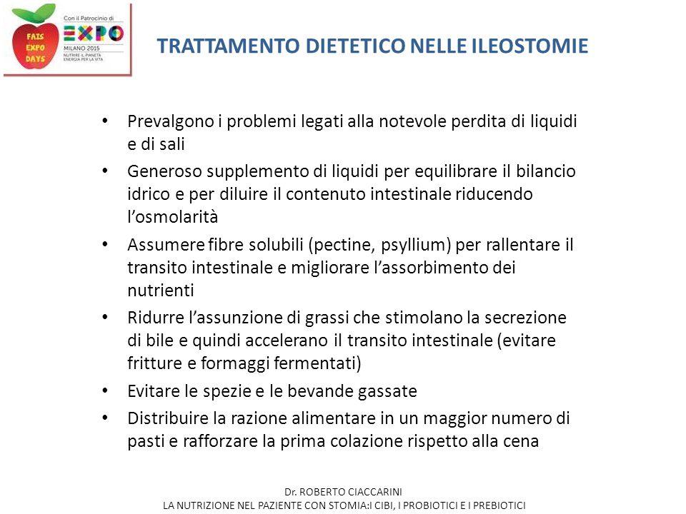 TRATTAMENTO DIETETICO NELLE ILEOSTOMIE