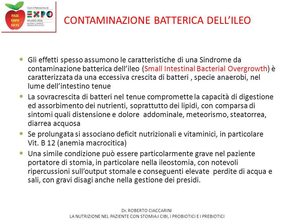 CONTAMINAZIONE BATTERICA DELL'ILEO