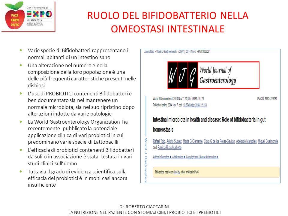 RUOLO DEL BIFIDOBATTERIO NELLA OMEOSTASI INTESTINALE