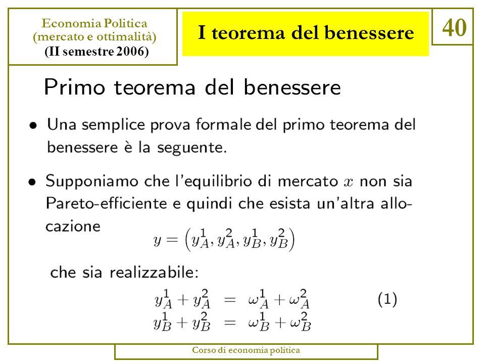 I teorema del benessere