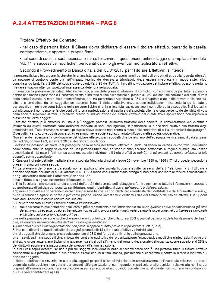 A.2.4 ATTESTAZIONI DI FIRMA – PAG 8