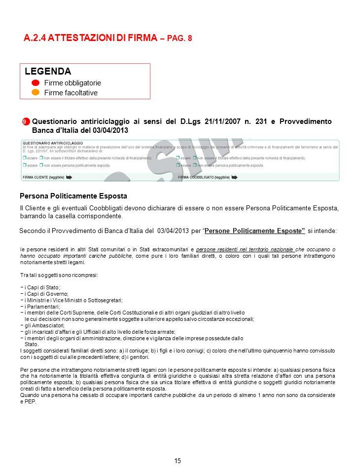A.2.4 ATTESTAZIONI DI FIRMA – PAG. 8