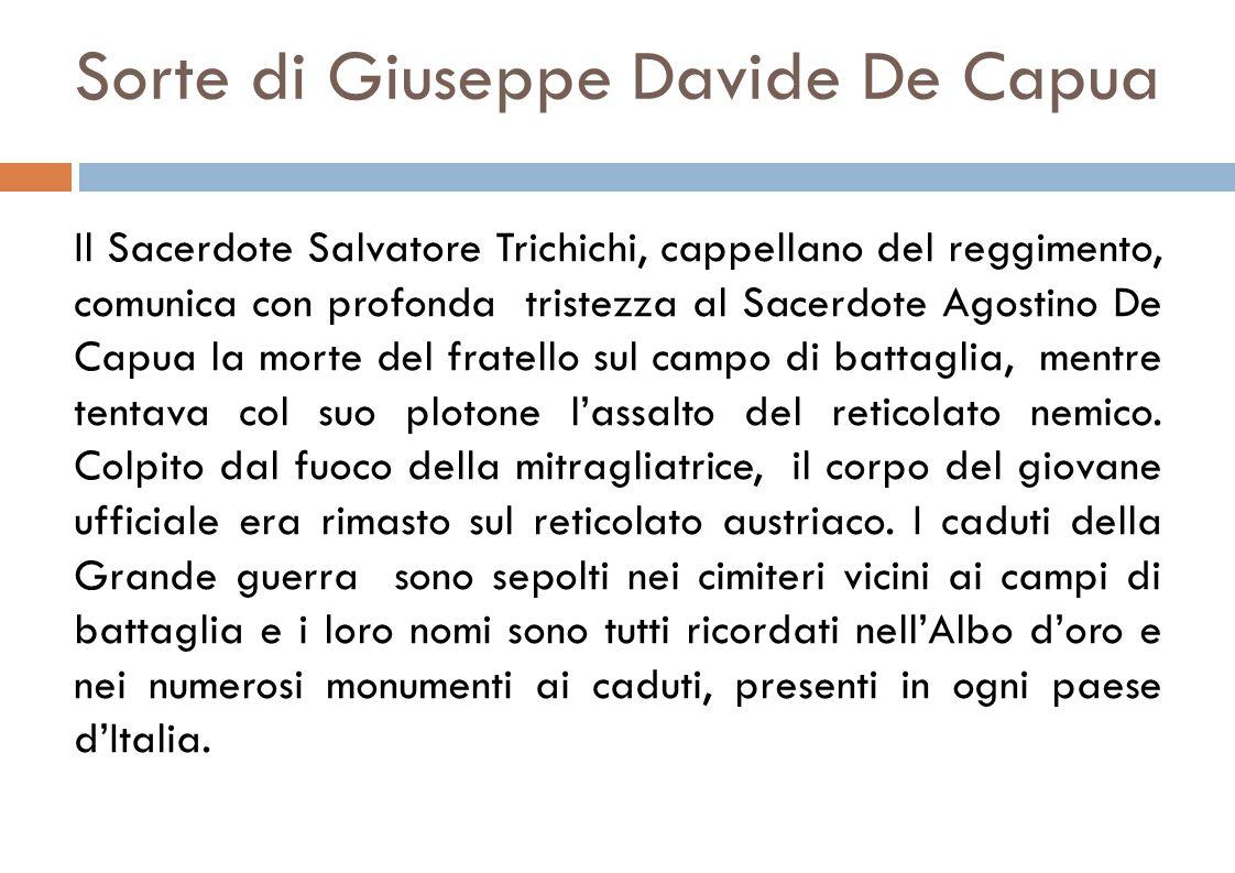 Sorte di Giuseppe Davide De Capua