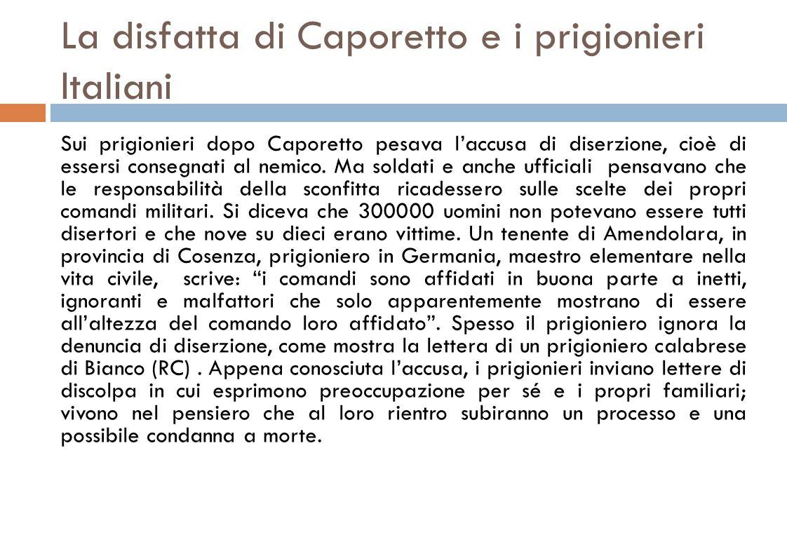 La disfatta di Caporetto e i prigionieri Italiani