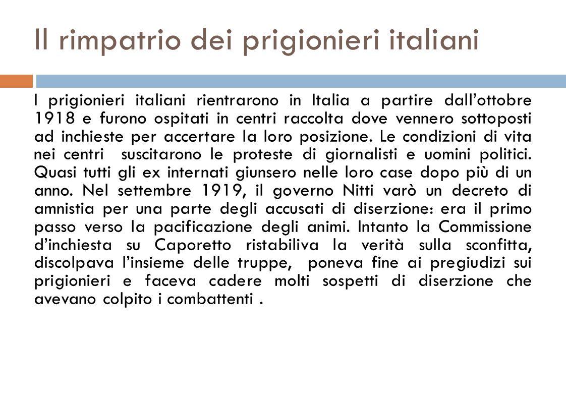 Il rimpatrio dei prigionieri italiani