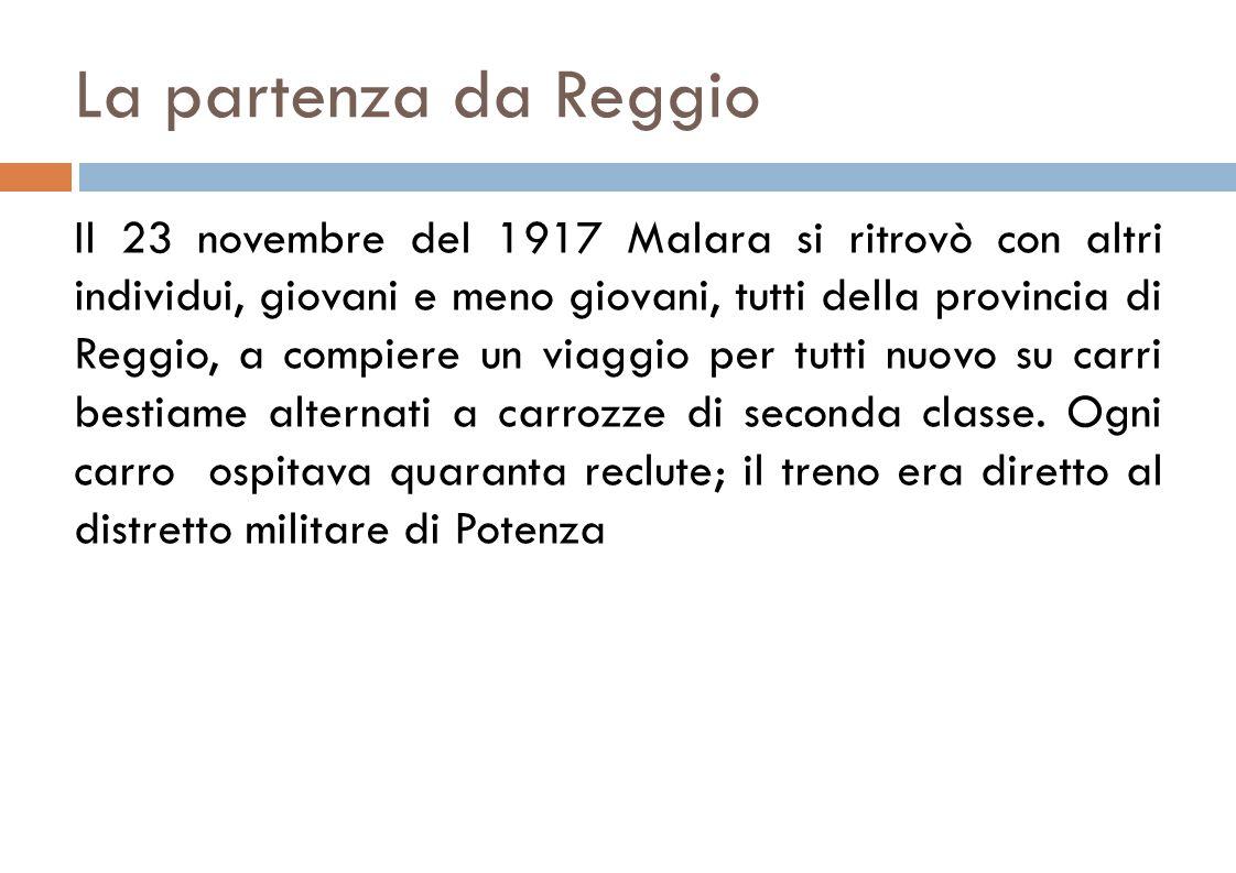 La partenza da Reggio