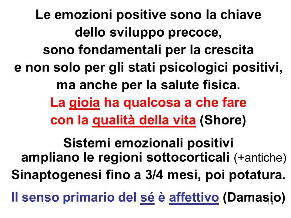 Le emozioni positive sono la chiave dello sviluppo precoce,