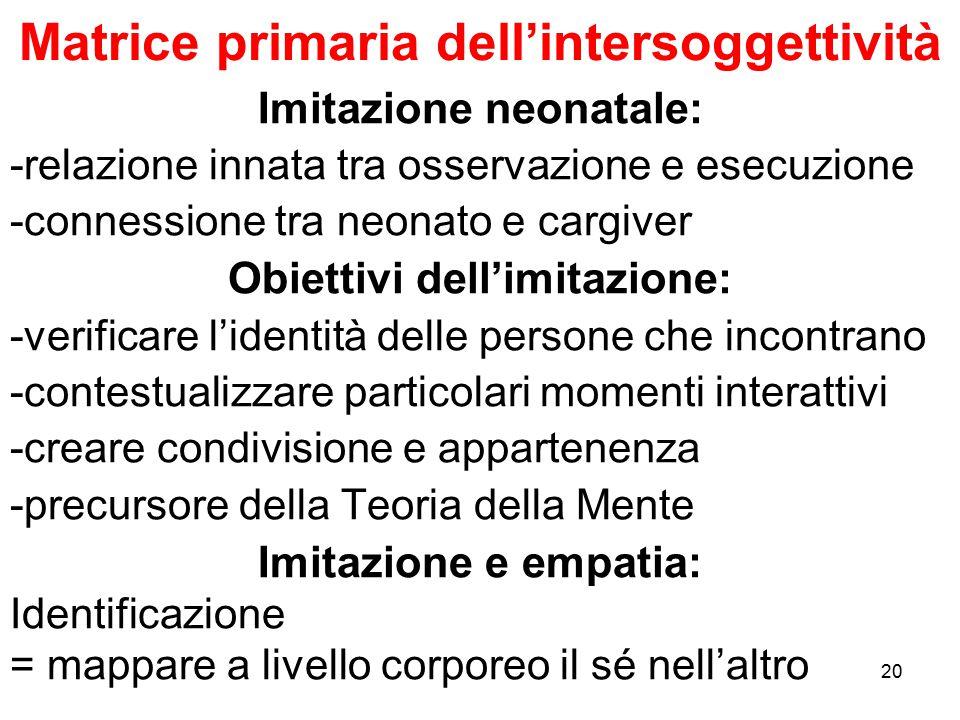 Matrice primaria dell'intersoggettività