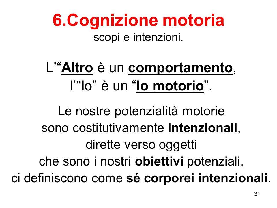 6.Cognizione motoria scopi e intenzioni.
