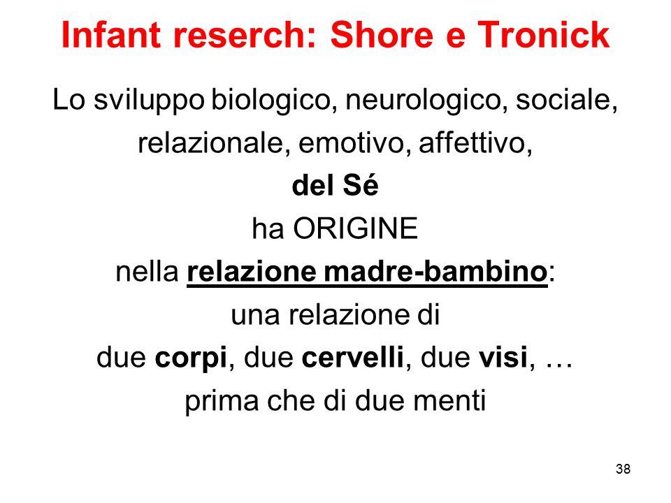 Infant reserch: Shore e Tronick