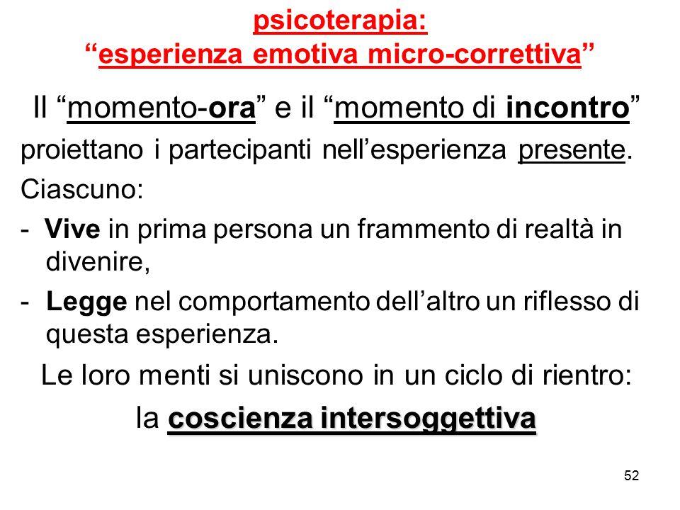 psicoterapia: esperienza emotiva micro-correttiva