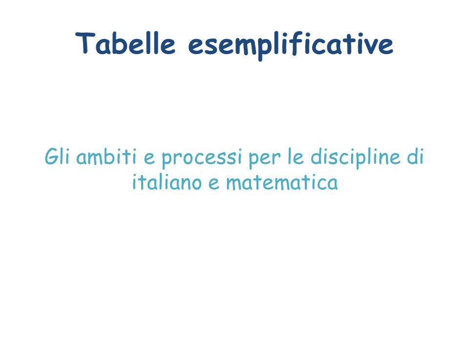 Tabelle esemplificative