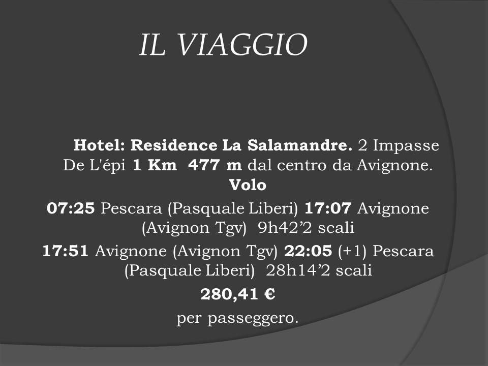 IL VIAGGIO Hotel: Residence La Salamandre. 2 Impasse De L épi 1 Km 477 m dal centro da Avignone. Volo.
