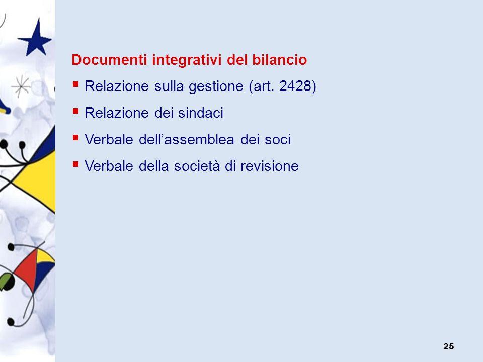 Documenti integrativi del bilancio