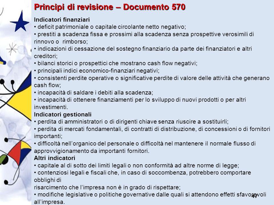 Principi di revisione – Documento 570