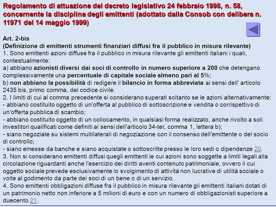 Regolamento di attuazione del decreto legislativo 24 febbraio 1998, n