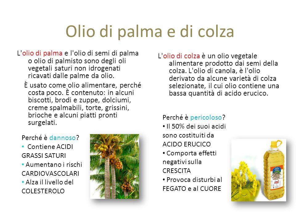 Olio di palma e di colza