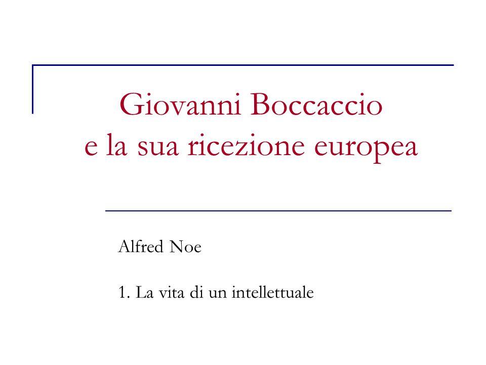Giovanni Boccaccio e la sua ricezione europea