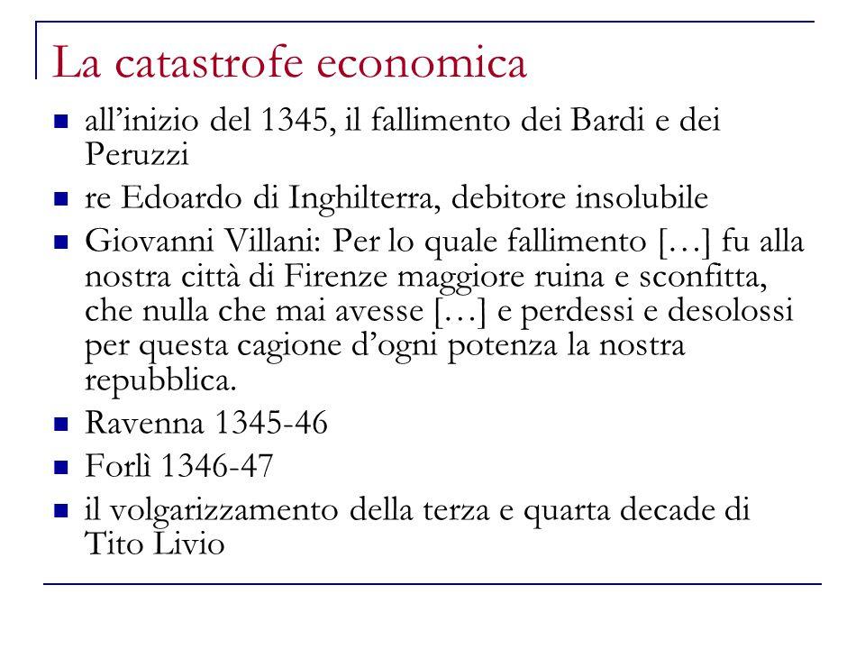 La catastrofe economica
