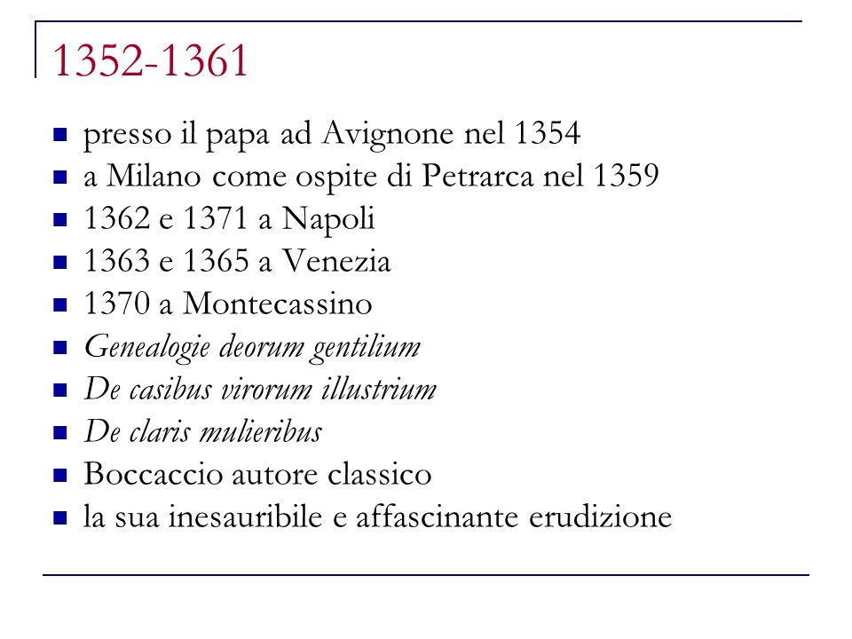 1352-1361 presso il papa ad Avignone nel 1354