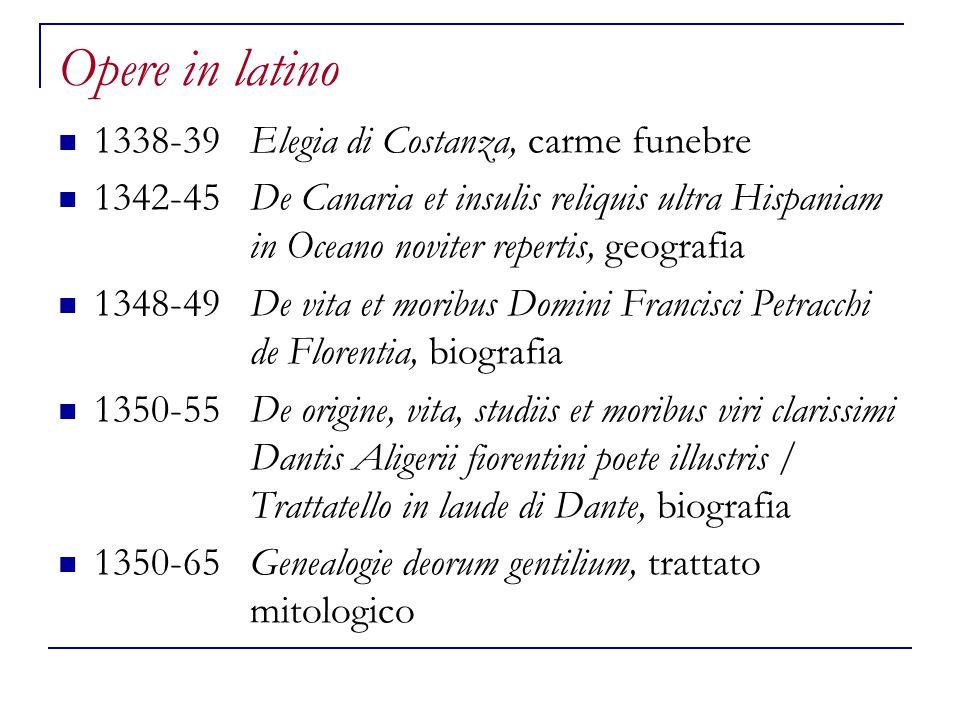 Opere in latino 1338-39 Elegia di Costanza, carme funebre