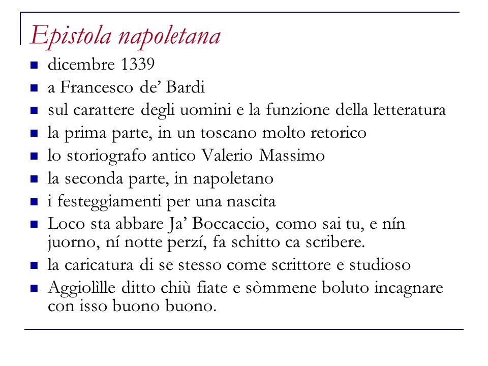 Epistola napoletana dicembre 1339 a Francesco de' Bardi
