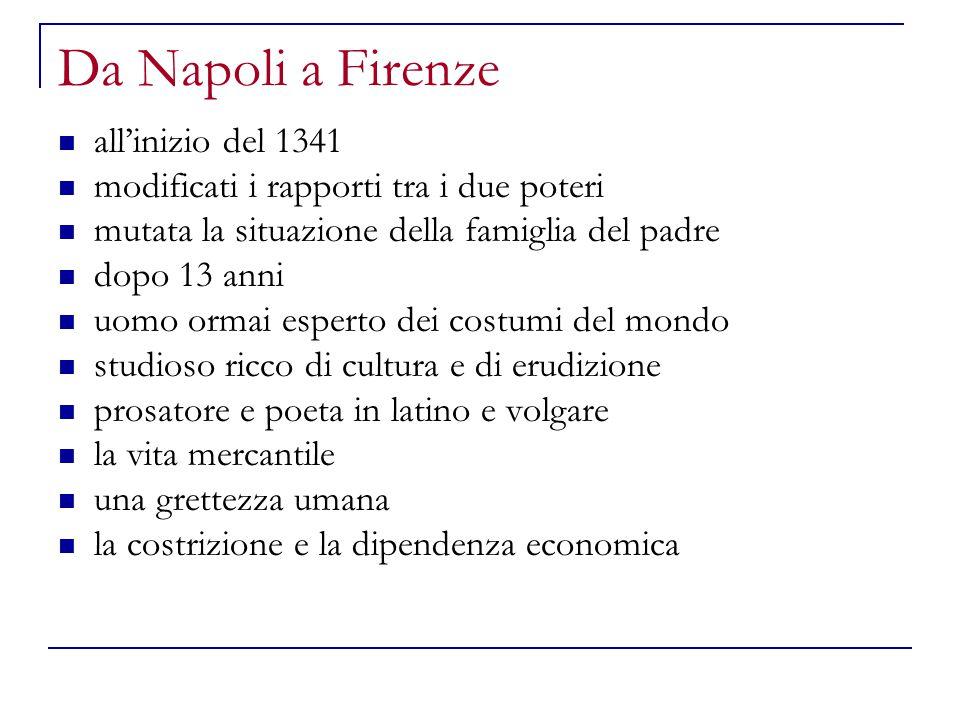 Da Napoli a Firenze all'inizio del 1341