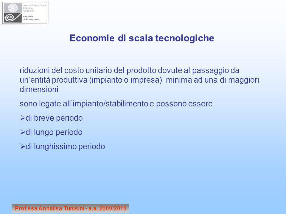 Economie di scala tecnologiche
