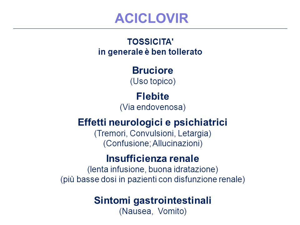 in generale è ben tollerato Sintomi gastrointestinali