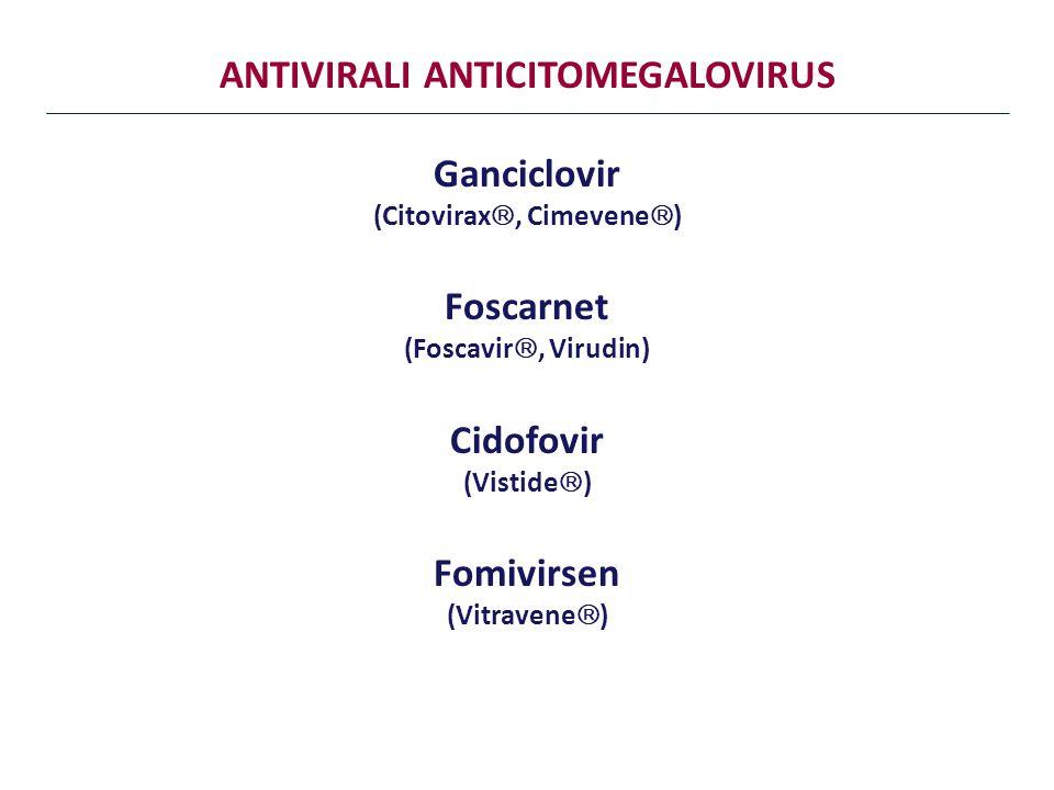 ANTIVIRALI ANTICITOMEGALOVIRUS Ganciclovir